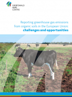 Cover policy brief on reporting GHG emissions from organic soils in the EU